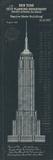 Empire State Building Plan Reproduction procédé giclée par  The Vintage Collection
