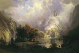 Rocky Mountain Landscape, 1870 Giclée-tryk af Albert Bierstadt