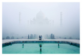 Misty Taj Mahal Posters by Karthi KN Raveendiran