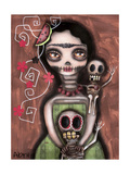 Frida Day of the Dead Giclee Print by Abril Andrade