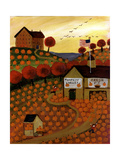 Pumpkin Valley Cheryl Bartley Giclée-vedos tekijänä Cheryl Bartley
