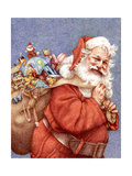 Finished Santa Giclee Print by Anne Yvonne Gilbert