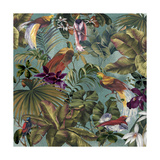 Bird Paradise Blue Reproduction procédé giclée par Bill Jackson