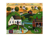 May Your Home Be Blessed with Many Friends Lang 2018 Giclée-Druck von Cheryl Bartley