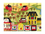 Apples Quilts 4 Sale Lámina giclée por Cheryl Bartley
