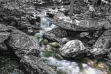 Jim Bales Rapids 2 BW Fotografisk trykk av Bob Rouse
