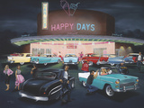 Happy Days Lámina giclée por Geno Peoples