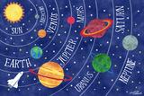 Space and Planets Giclée-Druck von Elizabeth Caldwell