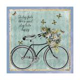 Vintage Bike Giclée-Druck von Erin Clark