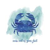 Crab Impressão giclée por Erin Clark
