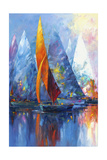 Sail Boats Giclee Print by Edward Park