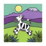 Zebra Giclee Print by Denny Driver