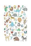Alphabet Animals Giclee-trykk av Elizabeth Caldwell
