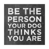 Person Dog Giclée-Druck von Erin Clark