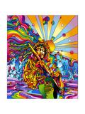 Jimi Color Giclée-tryk af Howie Green