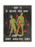 Zombie Stampa giclée di Erin Clark