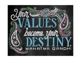 Your Values Giclée-Druck von CJ Hughes