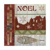 Lodge Greetings Noel Giclee Print by Fiona Stokes-Gilbert