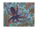 Kraken Giclée-Druck von Erika Pochybova