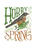 Hurry Spring Giclee Print by CJ Hughes