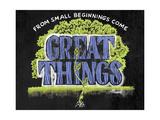 Great Things Giclée-Druck von CJ Hughes