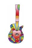 Guitar Eye Heart Giclee Print by Howie Green