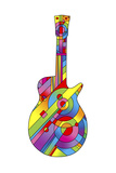 Guitar 79 Giclee Print by Howie Green