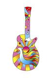 Pop Art Guitar Dove Giclee Print by Howie Green