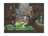 Playing for Doe Giclee Print by Geno Peoples
