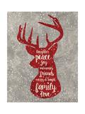 Xmas Deer Giclée-Druck von Erin Clark