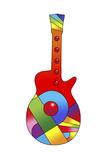 Pop Art Guitar Red Ball Giclee Print by Howie Green