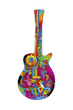 Guitar 01 Giclee Print by Howie Green
