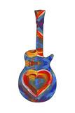 Pop Art Guitar Heart Brush Giclee Print by Howie Green