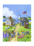 Boathouse Cove Giclee Print by Geraldine Aikman