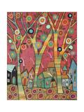 Chirpy Village 1 Giclee-trykk av Karla Gerard