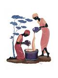 Two Women Pouring Gicléedruk van Judy Mastrangelo