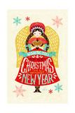 Christmas Girl Lámina giclée por Gaia Marfurt