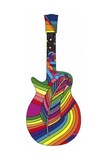 Guitar Feather Giclee Print by Howie Green