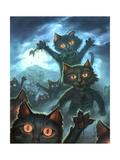 Zombie Cats Giclee Print by Jeff Haynie