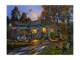 Smokey's General Store Stampa giclée di Geno Peoples