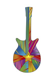 Pop Art Guitar Star Giclee Print by Howie Green
