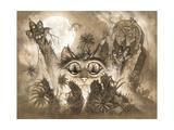 Zombie Cats 2 Giclee Print by Jeff Haynie