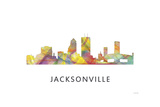 Jacksonville Florida Skyline Reproduction procédé giclée par Marlene Watson
