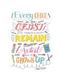 Every Child Is an Artist Giclée-Druck von Elizabeth Caldwell