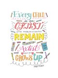 Every Child Is an Artist Giclee Print by Elizabeth Caldwell