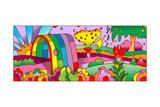 Rainbow Tunnel Giclée-Druck von Howie Green