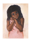 Black Girl Giclee Print by Judy Mastrangelo