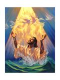 Christian Baptism of Jesus Giclée-tryk af Jeff Haynie