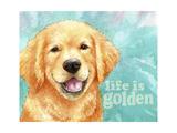 Life Is Golden Retriever Giclee Print by Melinda Hipsher