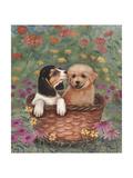 Beagle and Golden Retriever Giclee Print by Judy Mastrangelo
